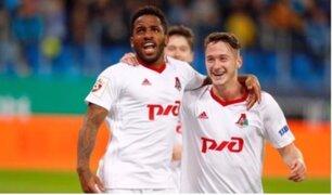 Jefferson Farfán se lució en el triunfo del Lokomotiv sobre Niza