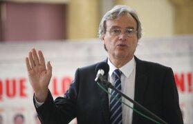 """Ministro Basombrío: """"Manejamos la hipótesis que alcalde de VMT es parte de organización criminal"""""""