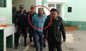 Capturan a excomandante PNP acusado de liderar banda de traficantes de terreno
