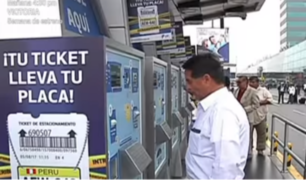 Aeropuerto Jorge Chávez: conductores disconformes ante elevado costo de parqueo