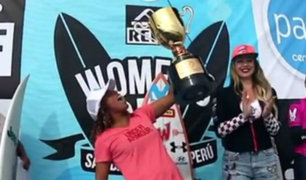 Analí Gómez: Peruana hace historia como la primera tricampeona sudamericana de surf