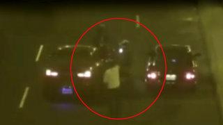Bellavista: cámaras de seguridad captaron violento ataque a motociclista