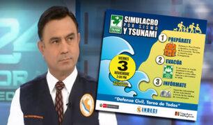 Indeci: mañana se realizará simulacro de sismo y tsunami en la zona costera