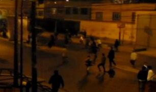 Barristas se enfrentaron con bombardas y generaron pánico en Salamanca