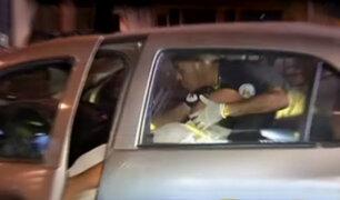 San Borja: conductor quedó atrapado tras chocar su automóvil
