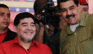 Venezuela: Diego Armando Maradona jugará fútbol con Nicolás Maduro