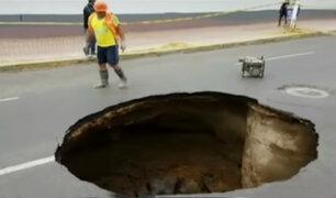 Trujillo: enorme forado causa alarma entre pobladores