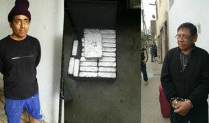 Los Olivos: capturan a sujetos que almacenaban droga del Vraem en vivienda