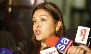 Karina Beteta pide a ministro Basombrío tomar medidas para combatir la delincuencia