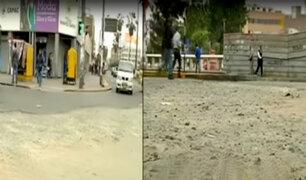 Ciudadanos mortificados por mal estado de calles y pistas en varias zonas de Lima