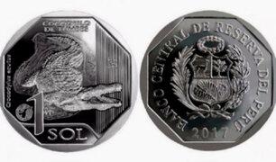 Presentan nueva moneda de un sol alusiva al cocodrilo de Tumbes