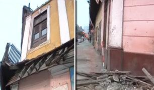 La Victoria: paneles publicitarios habrían causado desplome de balcón en casona