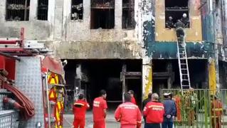 Reporte de nuevo incendio en galería Nicolini generó alarma en Las Malvinas