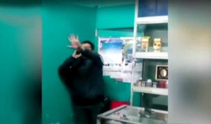 Arequipa: policía en aparente estado de ebriedad intentó suicidarse