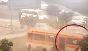 Los Olivos: transeúnte muere atropellado por custer que invadió paradero