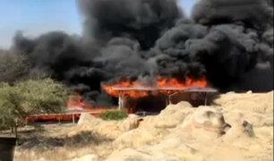 Investigan causas que provocaron incendio en Complejo Arqueológico de Ventarrón