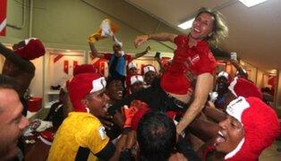 Perú al Mundial: seleccionados celebraron eufóricos en camerino e hicieron esto con Gareca