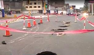 Rímac: forado en avenida Tacna interrumpen tránsito vehicular