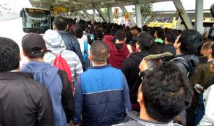 Estación Naranjal colapsó por falta de buses del Metropolitano
