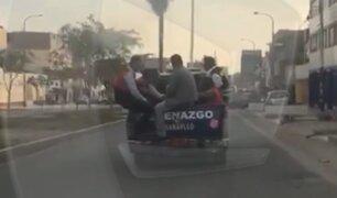 Carabayllo: vehículo de Serenazgo lleva a personas en la tolva