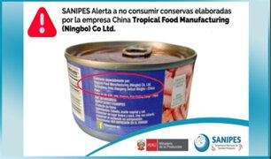 Sanipes lanza alerta sanitaria por conservas de pescado con parásitos