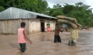 Tingo María: intensas lluvias dejan varias casas y calles inundadas