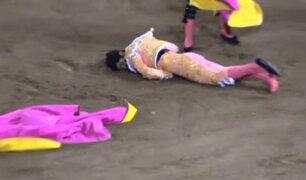México: torero sufrió grave cornada durante una corrida
