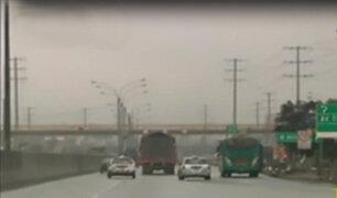 Atención conductores: intensa llovizna sorprende a limeños