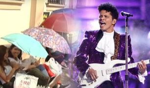 Fans de Bruno Mars hacen largas colas para recital en el Estadio Nacional