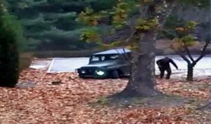 Difunden dramático video de deserción de un soldado norcoreano