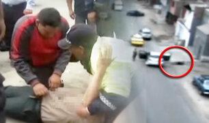 Policía es baleado tras frustrar robo en San Juan de Miraflores