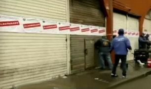 Cercado de Lima: clausuran galerías por falta de medidas de seguridad