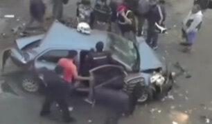 Surco: testigos del cuádruple choque aseguran que responsable se dio a la fuga