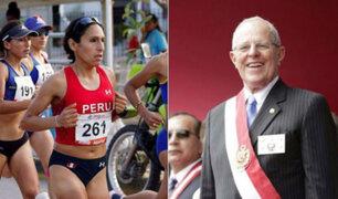 """PPK felicita a Gladys Tejeda por el oro en Bolivarianos 2017: """"Nuevamente nos enorgulleces"""""""