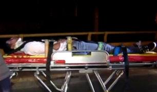 San Miguel: joven resultó herido tras despiste de su motocicleta