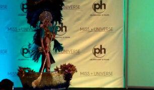 Miss Universo 2017: El curioso accidente de Alisson Abarca, Miss El Salvador, en traje típico [VIDEO]