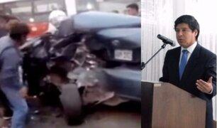 Poder Judicial liberó a notario que ocasionó accidente donde murió un abogado