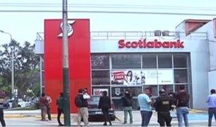 Delincuentes armados asaltan agencia bancaria y se llevan 148 mil soles