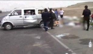 Trujillo: despiste de combi deja dos muertos