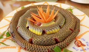 Vietnam: restaurante se especializa en platos preparados con carne de serpiente