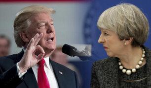 Donald Trump respondió a críticas de la primera ministra del Reino Unido