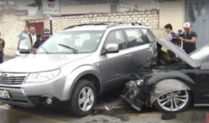 San Isidro: joven que habría estado ebrio protagoniza accidente de tránsito