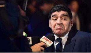 Diego Maradona critica a Sampaoli en pleno sorteo del mundial