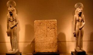 Hallan 27 estatuas de la diosa egipcia de la guerra en Luxor