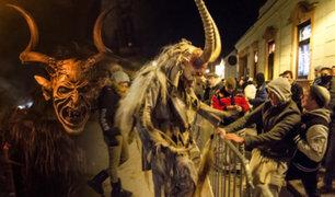 Austria: Krampus recorre las calles en festival terrorífico de Navidad
