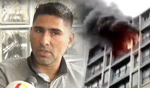 Hombre acusado de incendiar departamento en la avenida Tacna da su versión