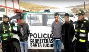 Puno: tras persecución PNP captura a delincuentes que huían en auto robado