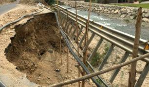 Carretera Lima-Canta luce en estado de abandono por autoridades del MTC