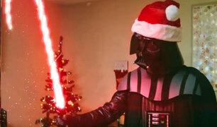 Darth Vader se apodera de la navidad con el poder de la Fuerza