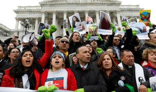 """Estados Unidos: miles piden en el capitolio una solución para los """"Dreamers"""""""